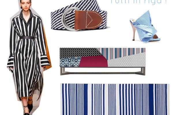 Arredamento e moda a righe bianche e blu tra le tendenze del 2017.