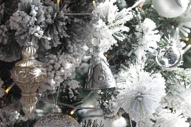 Coin casa addobbi di Natale total white.
