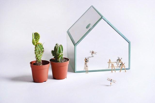 Atelier Macrame - specchio OH land - design Laura Calligari.