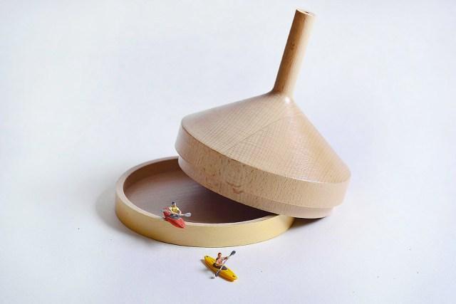 Atelier Macrame Tajiene wood colore giallo.