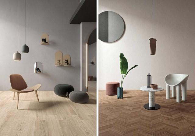 LEA collezione di finti legno in gres Bioselect per pavimento