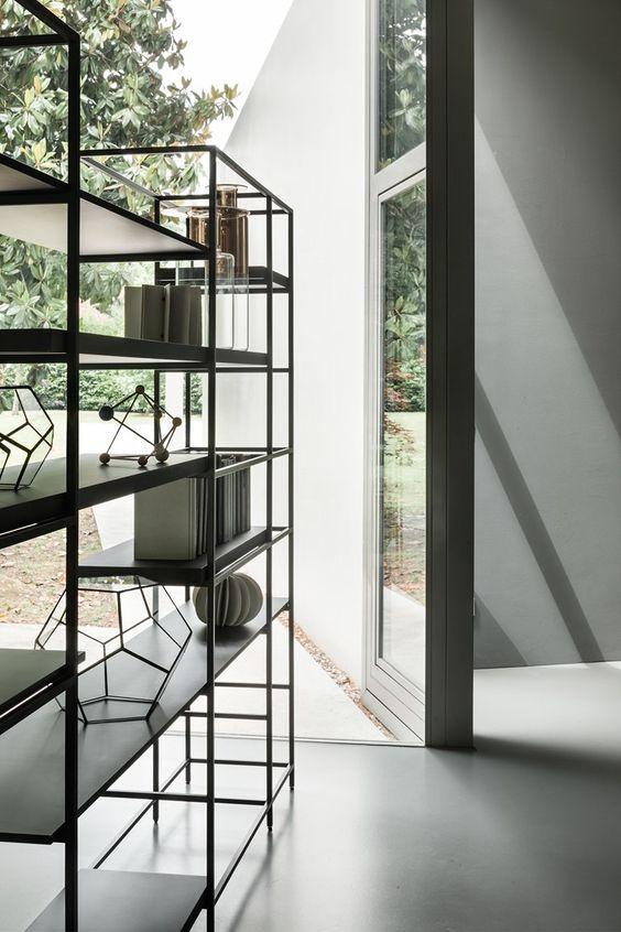 Plain interioris - bookshelves