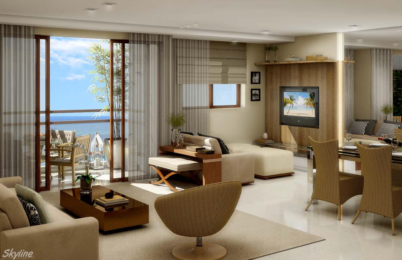 Ideia geral para uma sala decorada aconchegante e moderna  Moda e ConfortoModa e Conforto