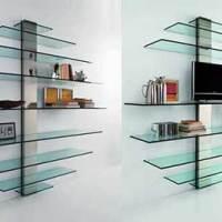Designer em prateleiras de vidro - belos modelos