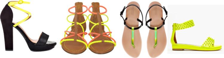 sandalia neon