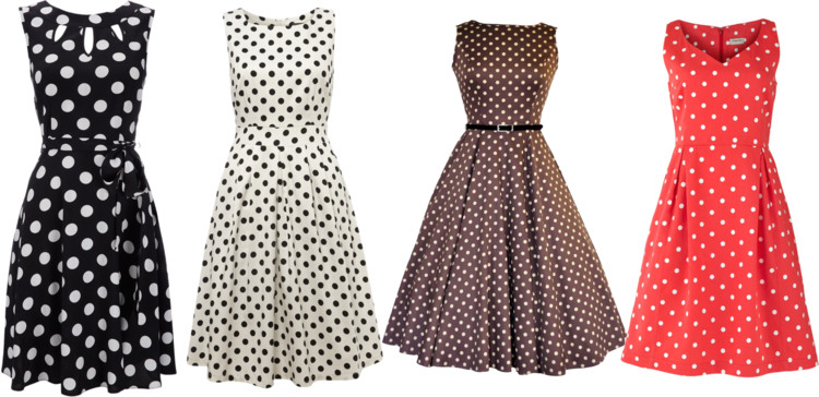 dotty dress moda