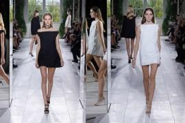 Mini vestidos con capas en blanco y negro