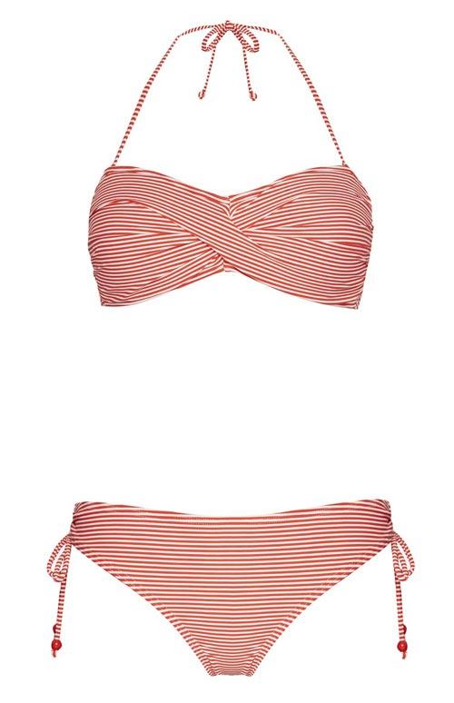 fbdb6ddf6e60 Primark: bikini cruzado en rojo a rayas ⋆ Moda en Calle
