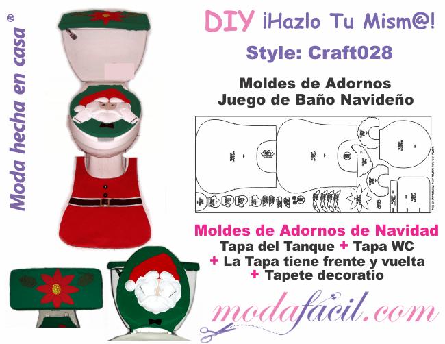 Patrones Dibujos De Navidad En Foami.Moldes De Juego De Bano Navideno Santa Claus Modafacil