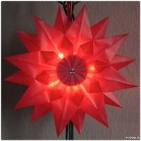 Strahlend leuchtende Faltsterne - DIY