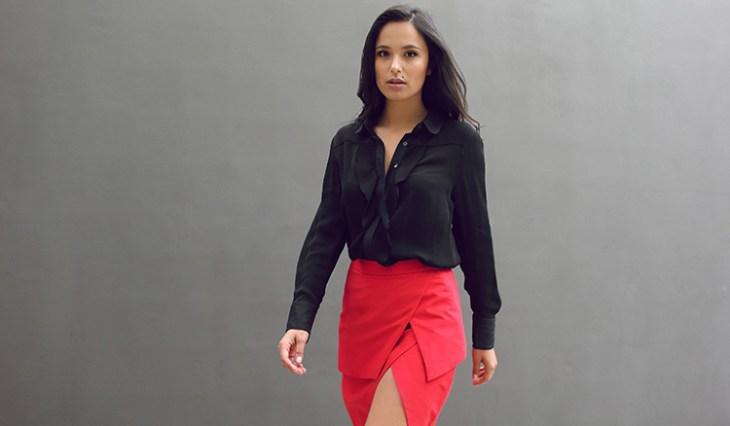 Fethyie Layered Skirt - Scarlet by Graziela at www.modagrid.com