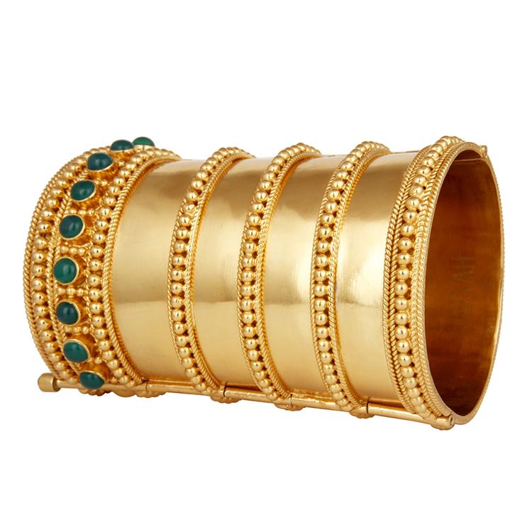 RIYA gold cuff by AARYAH on www.modagrid.com