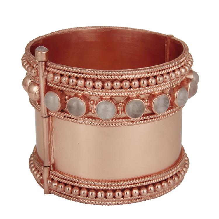 Kajal rose gold cuff by AARYAH on www.modagrid.com