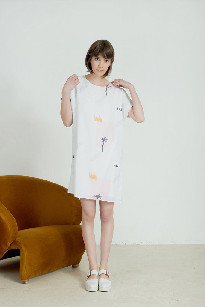 Printed Dress by Anna Daubner on www.modagrid.com