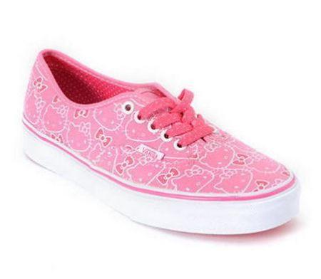 zapatillas vans hello kitty rosa