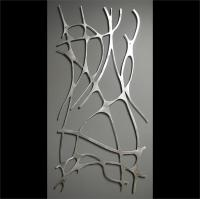Art Nouveau Web No. 1 in Brushed Aluminum Wall Sculpture