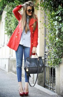 sokak stili kırmızı