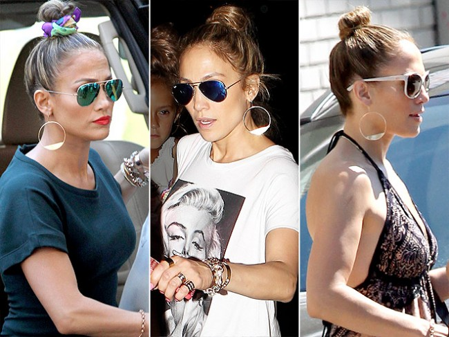 jennifer-lopez-LANA JEWELRY HOOP EARRINGS