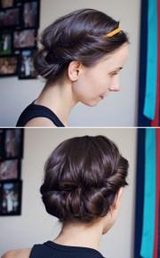 hair tutorial easy headband updo