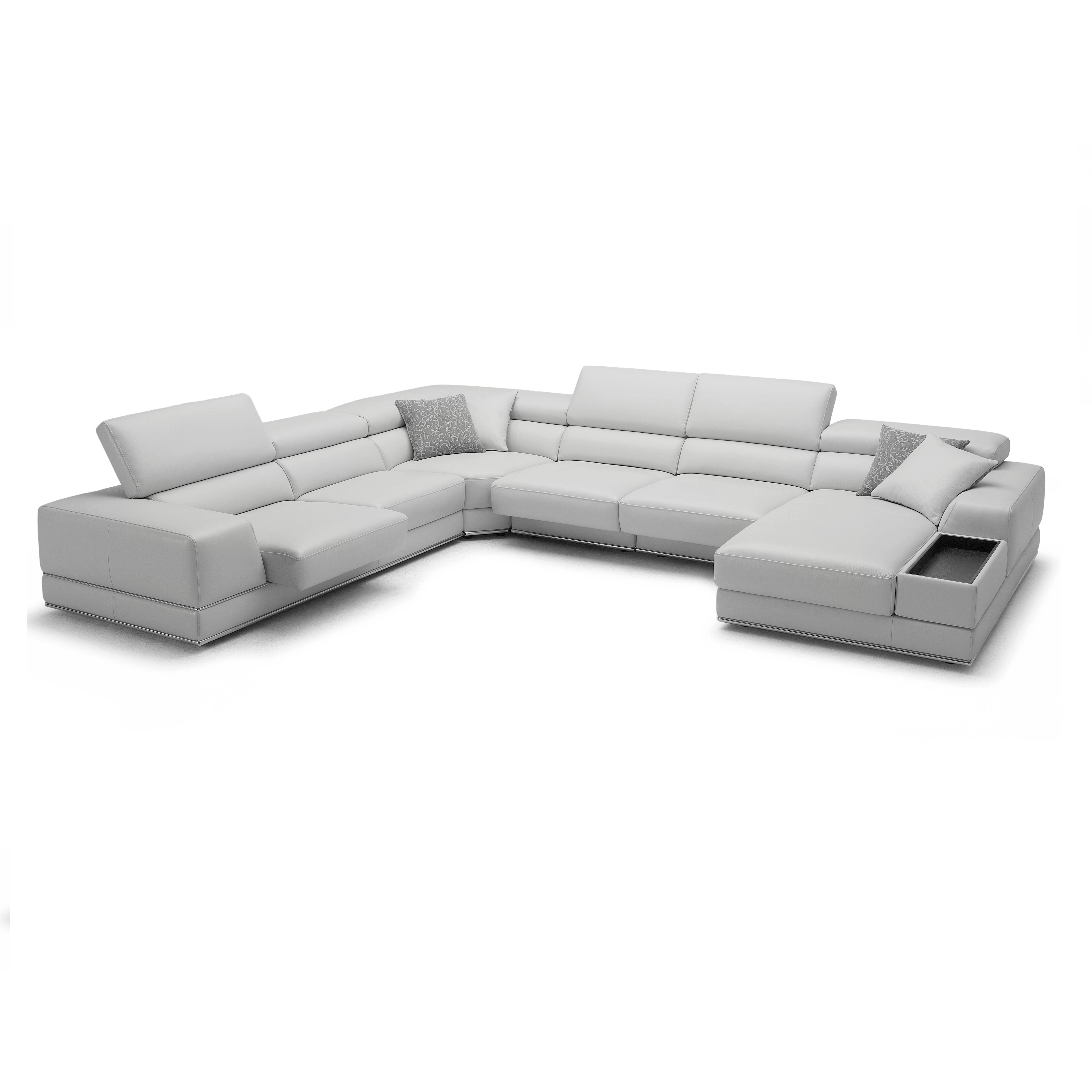 bergamo sectional leather modern sofa gray intex inflatable pull out queen bed mattress complete your room with the large