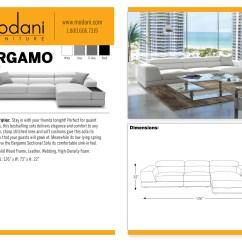 Bergamo Sectional Leather Modern Sofa Gray French Style Linen Premium Reclining Grey