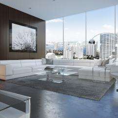 Bergamo Sectional Leather Modern Sofa Gray Radley 2 Seater Laura Ashley Extended White