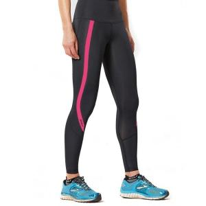 2XU Hi-Rise Womens Compression Tights – Black/Peacock Pink