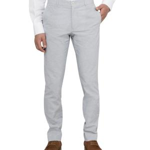 Casual Pants Slim Fit Chino Blue Grey  Grey 77 To 92