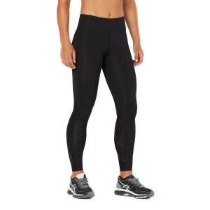 2XU Mid-Rise Print Womens Full Length Compression Tights – Black Dot/Nero