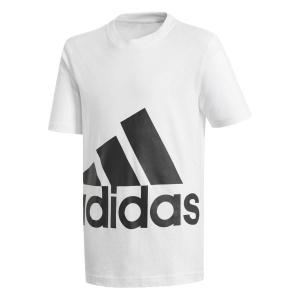 Adidas Essentials Big Logo Kids Boys Casual T-Shirt – White/Black