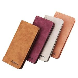 11 Card Slots Card Holder PU Leather Vintage Casual Wallet Vertical Coin Purse For Men