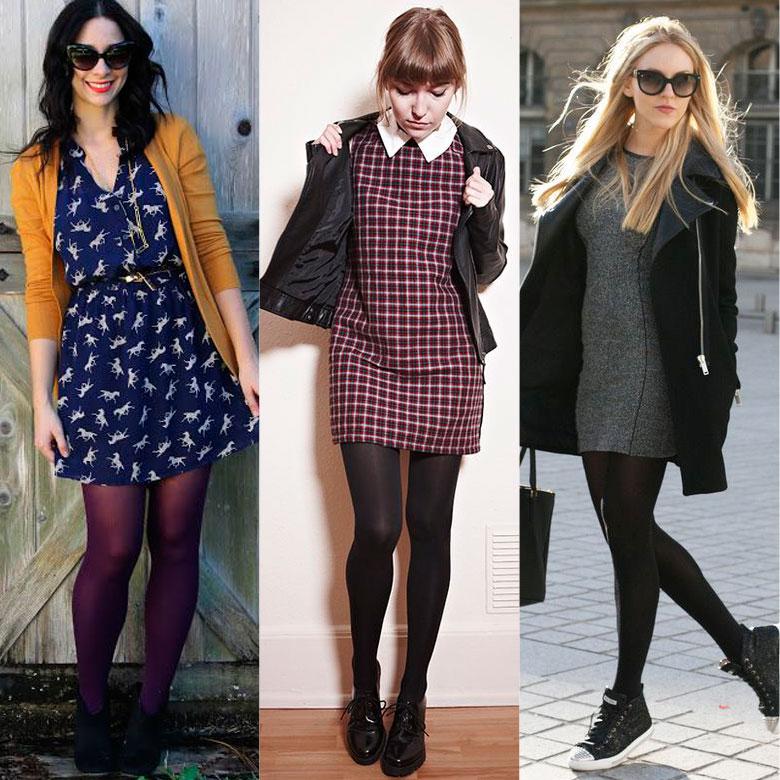 Resultado de imagem para moda inverno: vestido com meia