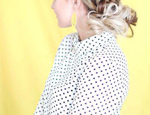 Alena Gidenko of modaprints.com doing a step by step braid tutorial