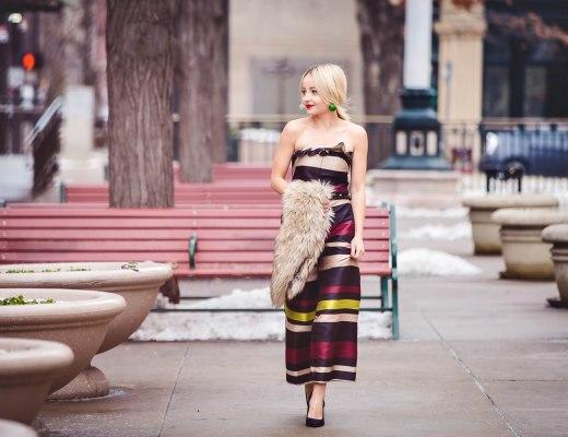 Alena Gidenko of modaprints styles a holiday party look