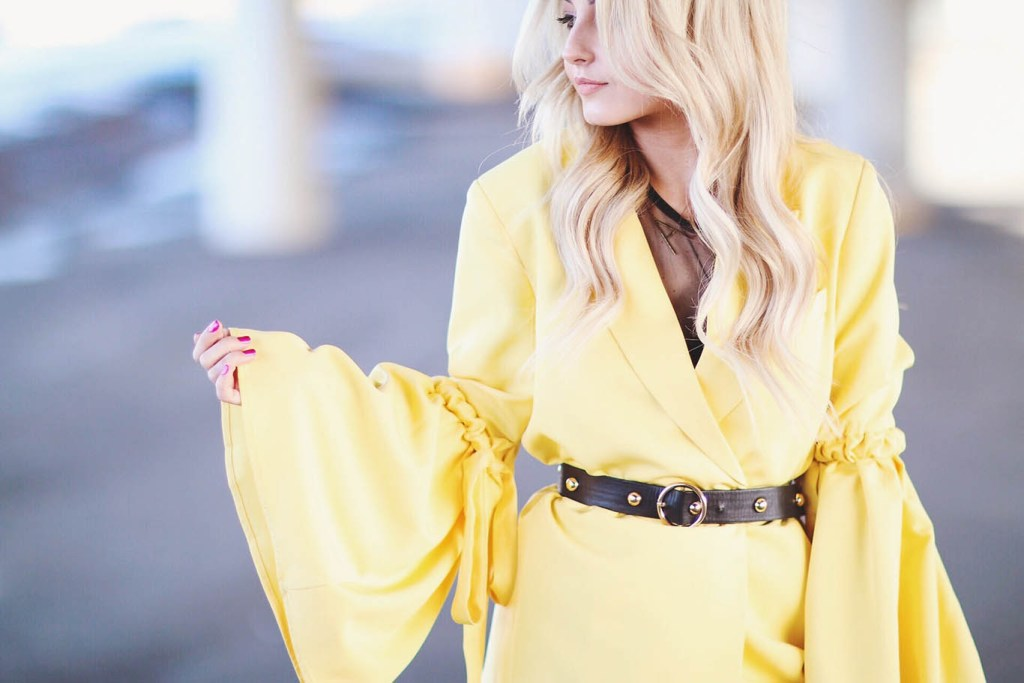 Alena Gidenko of modaprints.com sharing tips on styling a yellow coat