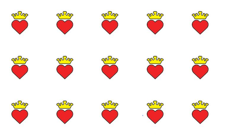Modarium afbeelding van een dessin in recht verzet van het Modiste beeldmerk