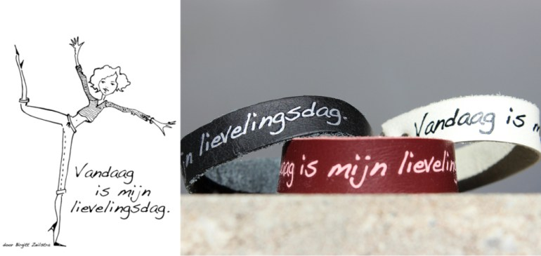 """Afbeelding van Modiste armbandjes met de wens """"Vandaag is mijn Lievelingsdag"""""""