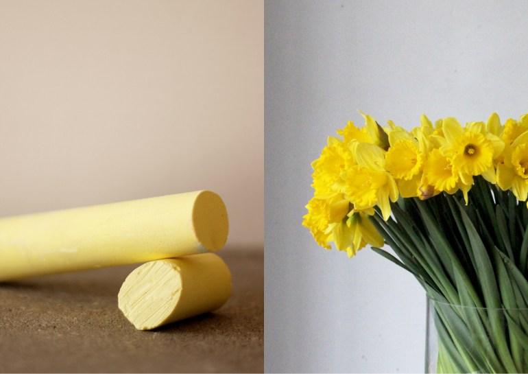 Modarium Geel moodboard 01 geel krijt en narcissen