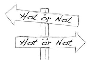 Modarium illustratie van Hot or Not pijlen trends