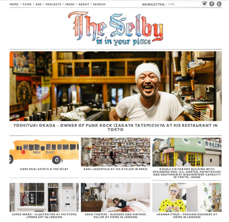 Screen Shot theselby website