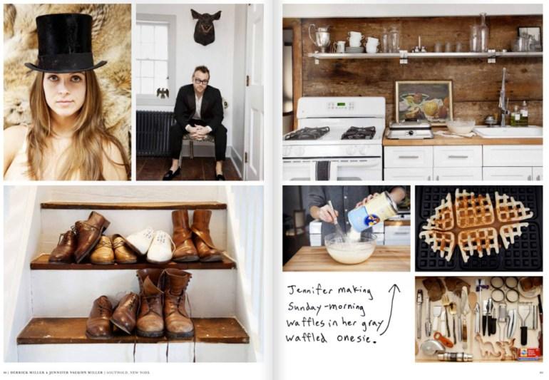 Modarium beeld van The Selby is in your place spread over het interieur van Derrick Miller en Jennifer Vaughn Miller