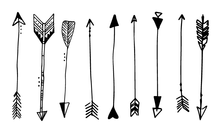 MODARIUM onregelmatig strooimotief pijlen illustraties