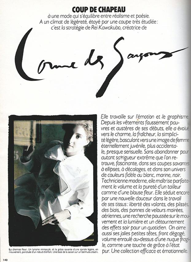 MODARIUM MAGAZINE COLLECTION 1988 Maart Marie-Claire-Bis M2516 Coup de Chapeau pag 140