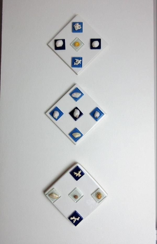 Mod Art Shell Tile Marine Glass Design Stm008 Studios
