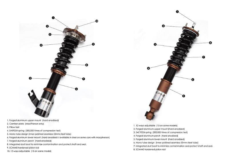 **CKS Suspension Coilovers for 2004-14 BMW 5-Series M5 6