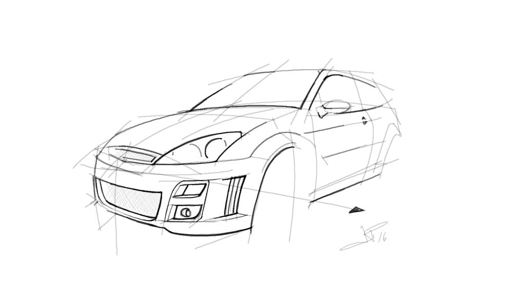 Handmade Digital Sketches of YOUR CAR! by Pelloni Design