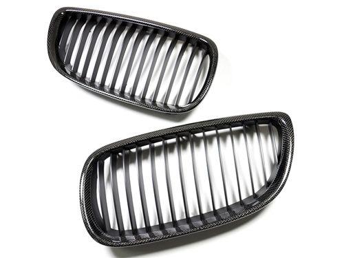 Carbon Fiber Kidney Grilles 2011-13 BMW 3-Series Non-M
