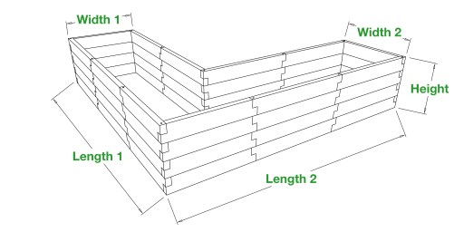 rectangle shaped raised garden bed