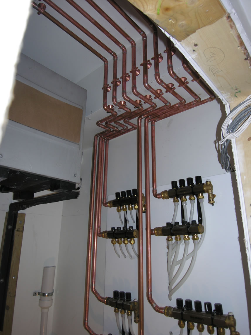 hight resolution of there were 4 zones created using zone valves the first floor mixed down to 80 with a fixed mixing valve this job was installed in 2007 before the