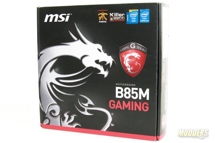 MSI B85M Gaming Motherboard Box